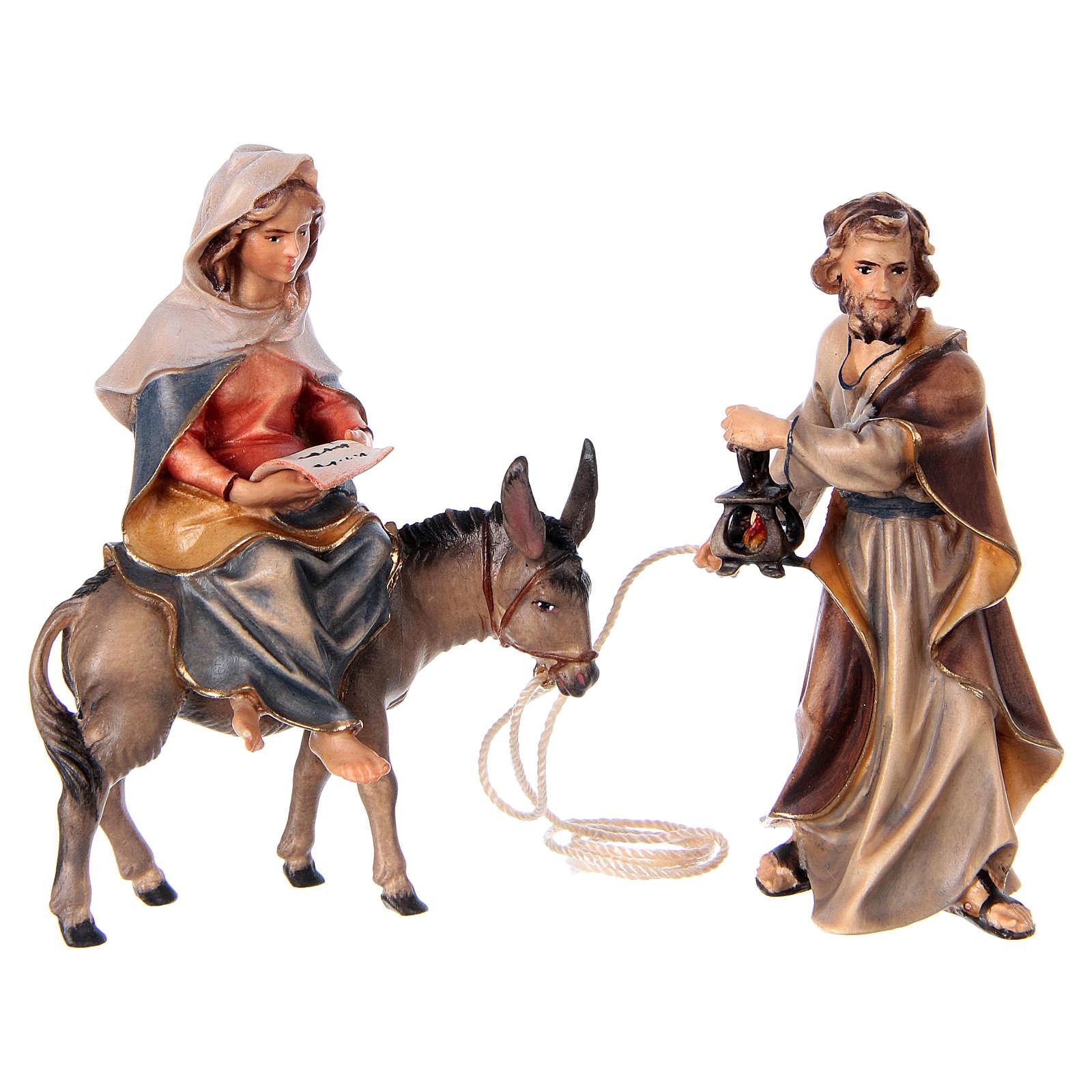 Ucieczka do Egiptu szopka Original drewno malowane Val Gardena 10 cm 4