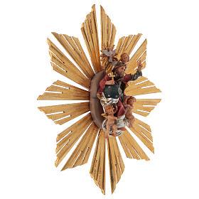Imagen Dios Padre y Espíritu Santo en gloria con rayos belén Original madera pintada en Val Gardena 12 cm de altura media s4