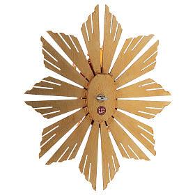 Imagen Dios Padre y Espíritu Santo en gloria con rayos belén Original madera pintada en Val Gardena 12 cm de altura media s5