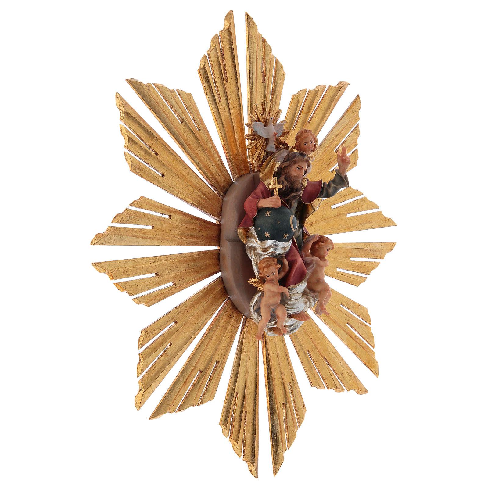 Gloriosa con Raggiera presepe Original legno dipinto in Valgardena 12 cm 4