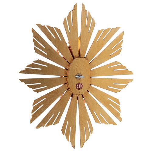 Gloriosa con Raggiera presepe Original legno dipinto in Valgardena 12 cm 5