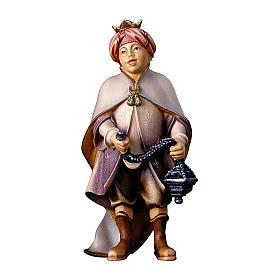 Piccolo cantore con incenso del presepe Original legno dipinto in Valgardena 10 cm s1