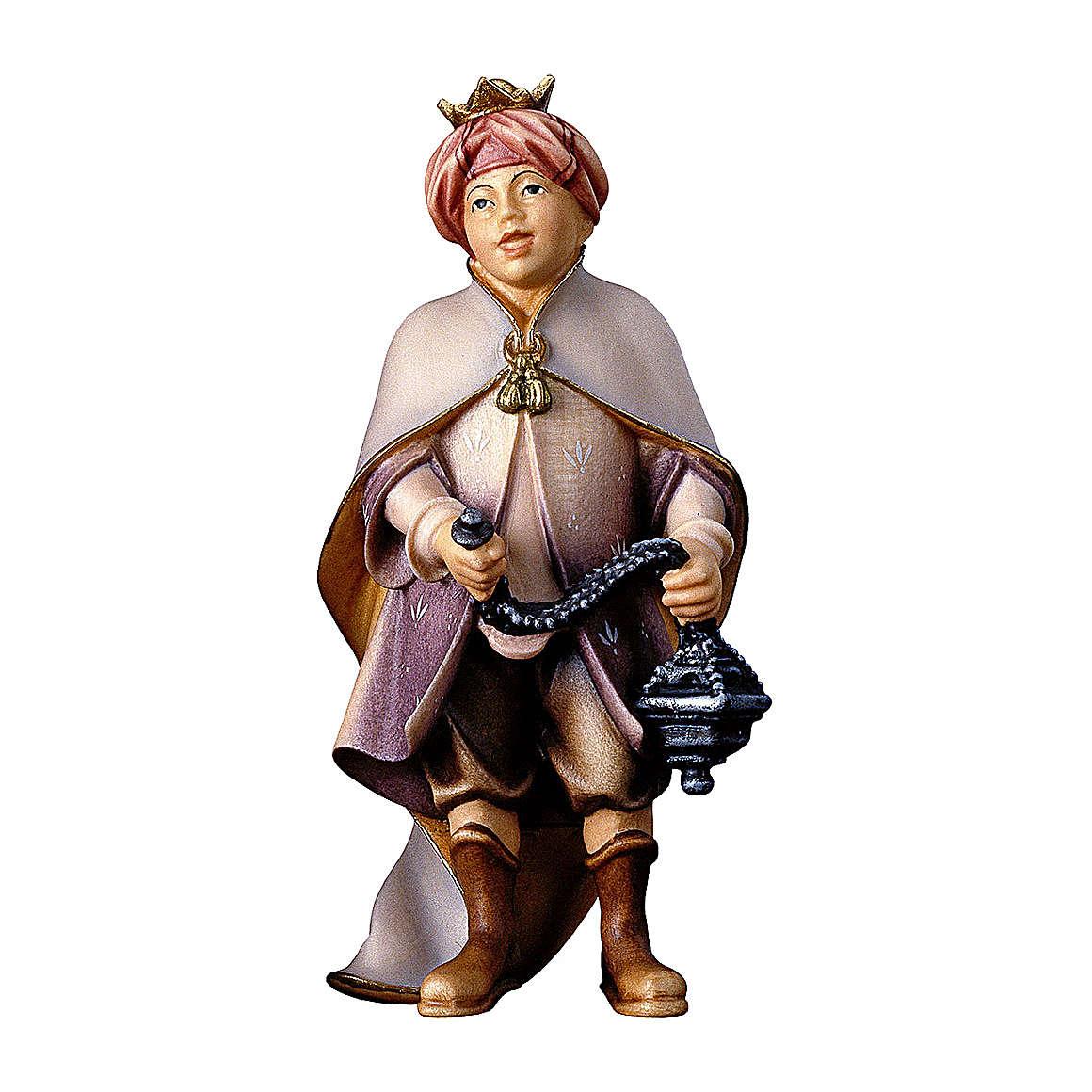Piccolo cantore con incenso presepe Original legno dipinto in Valgardena 12 cm 4