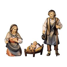 Sacra famiglia presepe Original Pastore legno dipinto in Val Gardena 12 cm s1