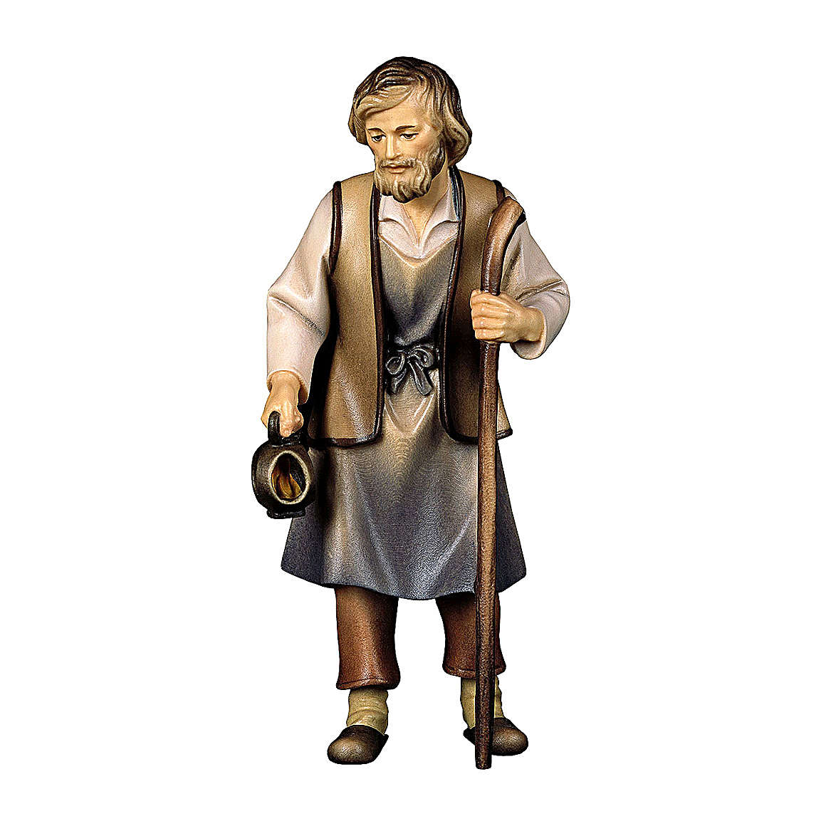 San Giuseppe presepe Original Pastore legno dipinto in Valgardena 10 cm 4