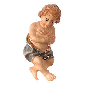 Belén Val Gardena: Niño Jesús del belén Original Pastor madera pintada en Val Gardena de 10 cm de altura media