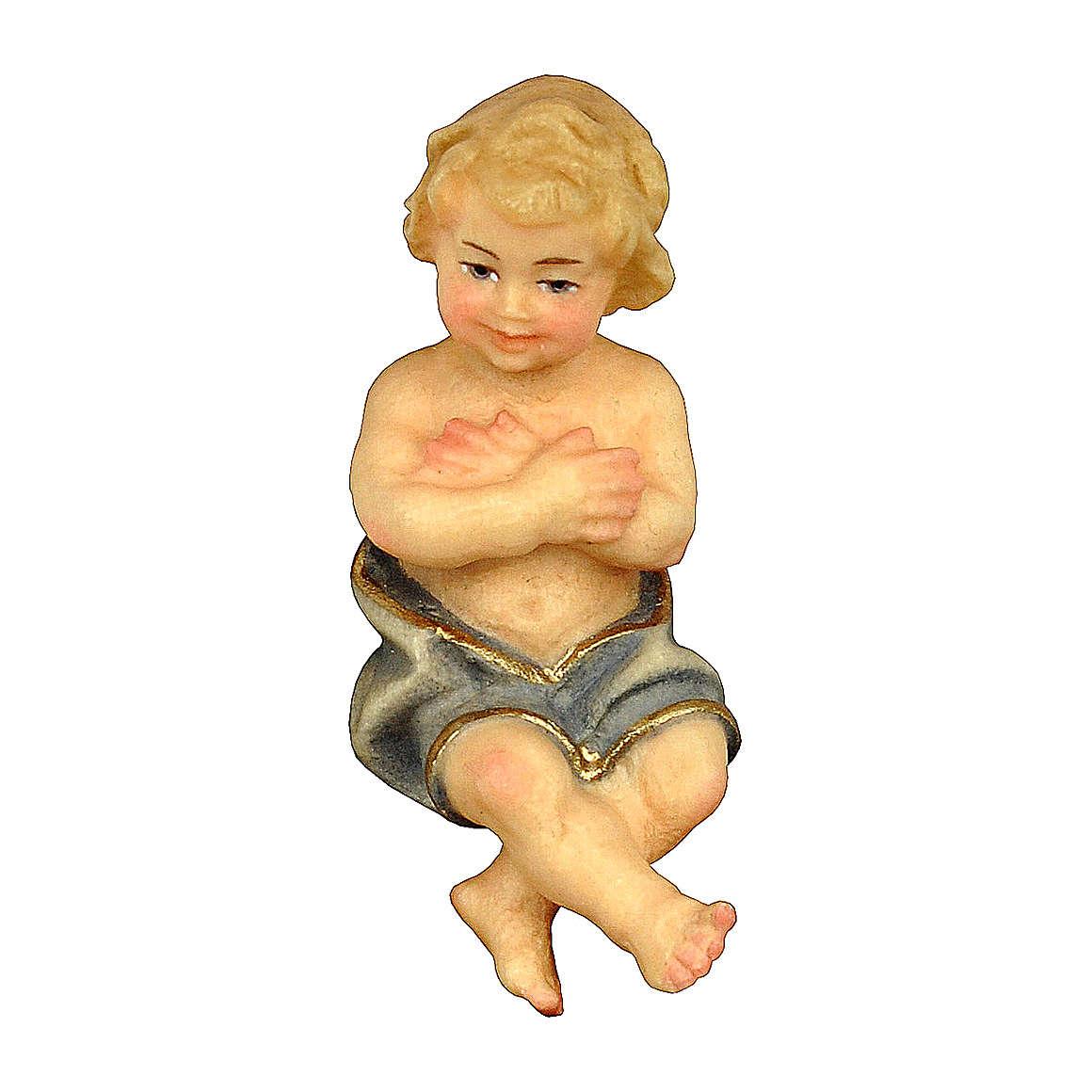 Bambinello presepe Original Pastore legno dipinto in Valgardena 12 cm 4