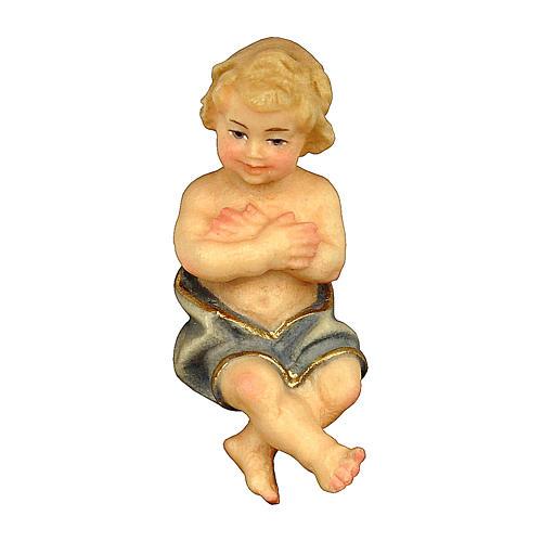 Bambinello presepe Original Pastore legno dipinto in Valgardena 12 cm 1