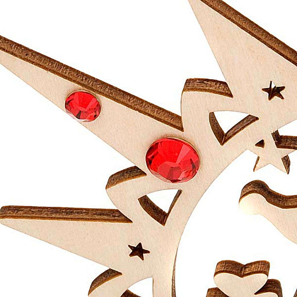 Addobbo natalizio stella intagliata renne con Swarovski 4