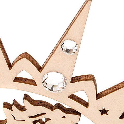 Addobbo natalizio stella intagliata renne con Swarovski 6