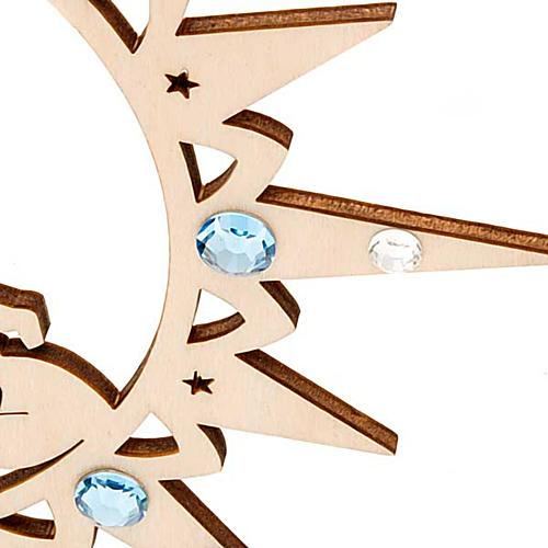 Addobbo natalizio stella con pupazzo di neve e Swarovski 2