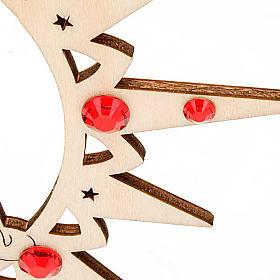 Adorno de Natal estrela com boneco de neve e Swarovski s4