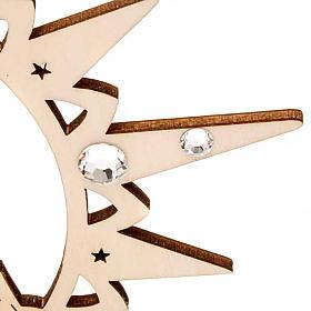 Adorno de Natal estrela com boneco de neve e Swarovski s5
