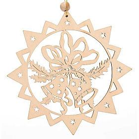 Decoro natalizio stella intagliata Sacra Famiglia s2