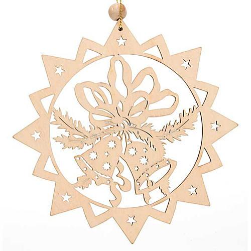 Decoro natalizio stella intagliata Sacra Famiglia 2