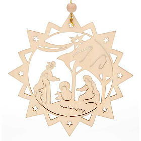 Christmas decor star shaped with Holy Family s1