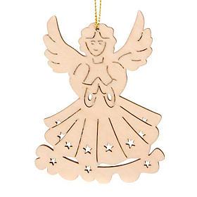 Adornos de madera y pvc para Árbol de Navidad: Adorno ángel colgable