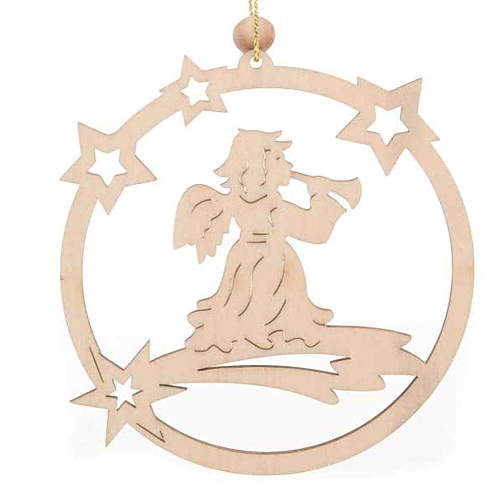 Decoro natalizio cerchio stelle Angelo 4