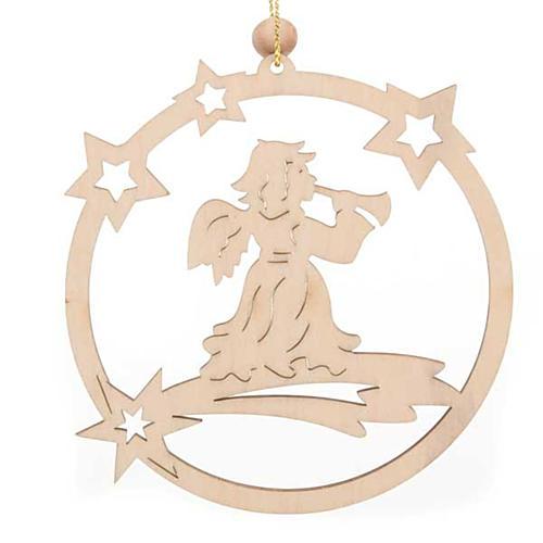 Decoro natalizio cerchio stelle Angelo 1