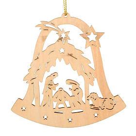 Decoro natalizio campana Sacra Famiglia s1