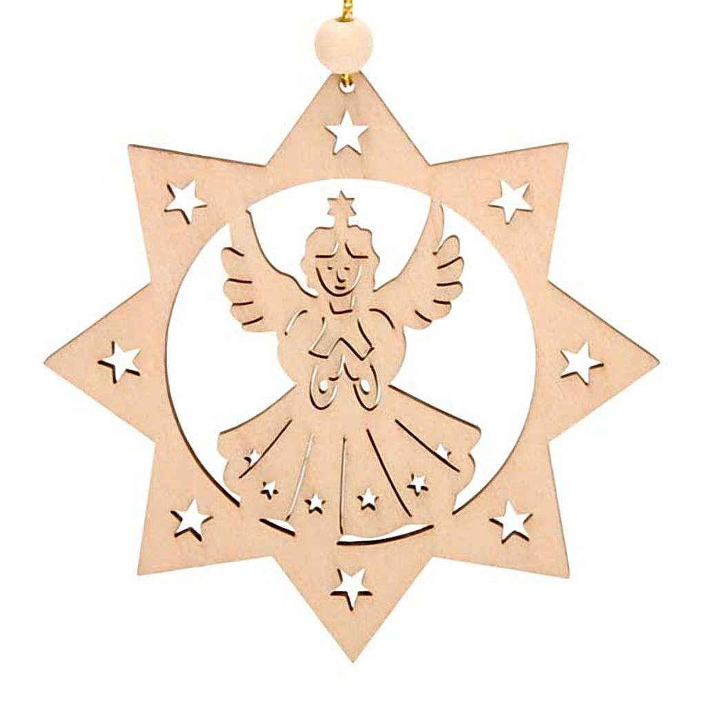 Decoro di Natale stella 8 punte Angelo 4