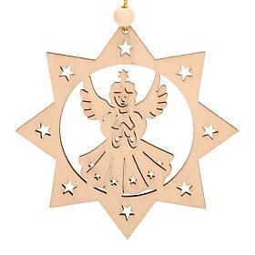 Decoro di Natale stella 8 punte Angelo s1
