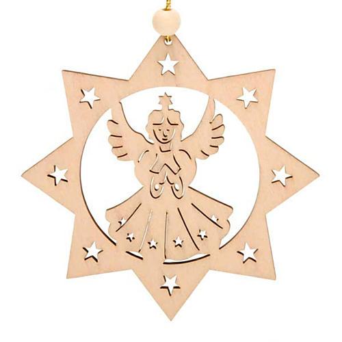 Decoro di Natale stella 8 punte Angelo 1