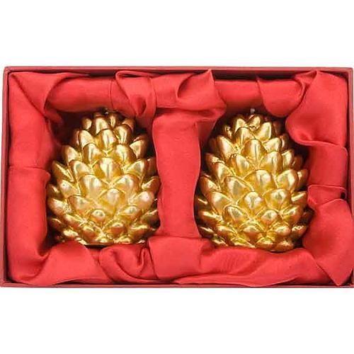 Candele natalizia pigna oro addobbi di Natale 2