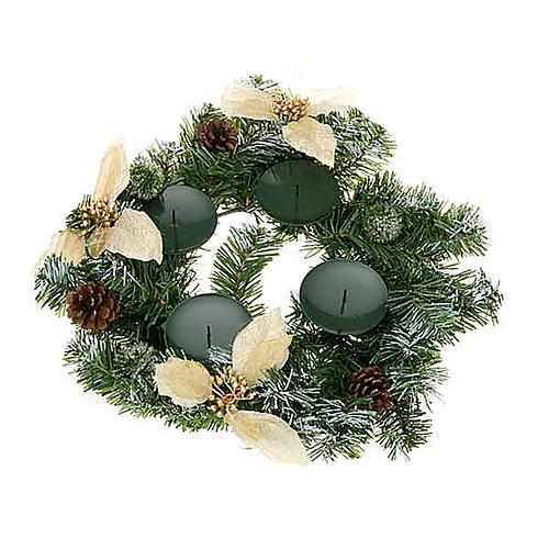 Decorated advent garland 1