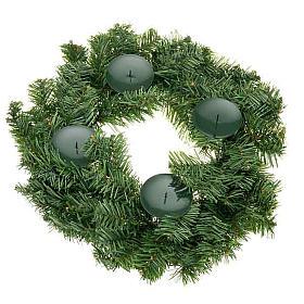 Corona avvento non decorata addobbo di Natale s1
