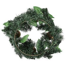 Corona avvento non decorata addobbo di Natale s3