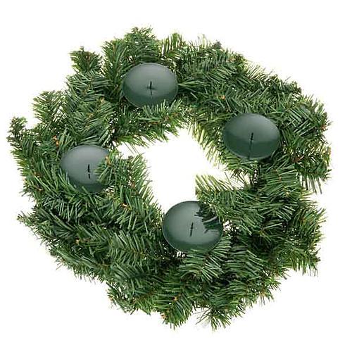 Corona avvento non decorata addobbo di Natale 1