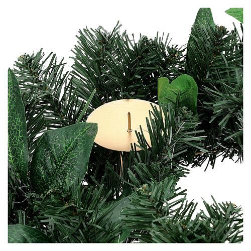 Corona avvento non decorata addobbo di Natale 2