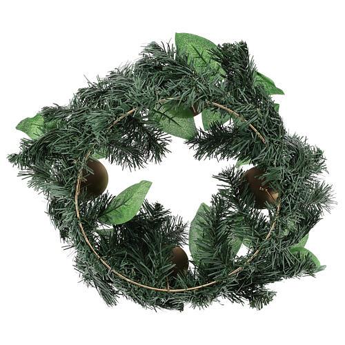 Corona avvento non decorata addobbo di Natale 3