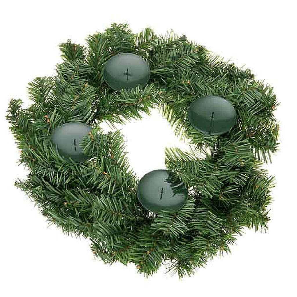 Coroa do Advento não decorada enfeite de Natal 3