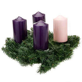 Coroa do Advento não decorada enfeite de Natal s2