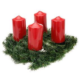 Coroa do Advento não decorada enfeite de Natal s3