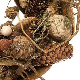Corona natalizia bosco oro addobbo natalizio s2