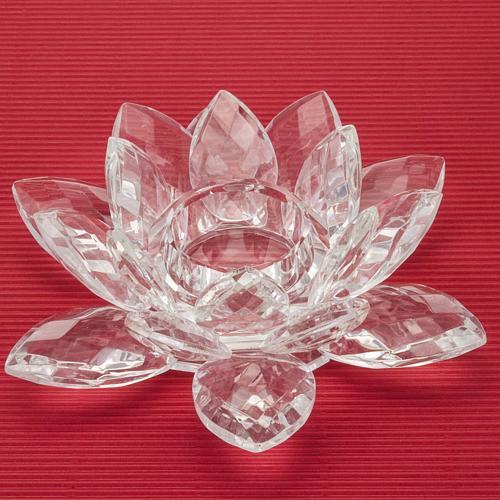 bougeoir en verre, fleur 2