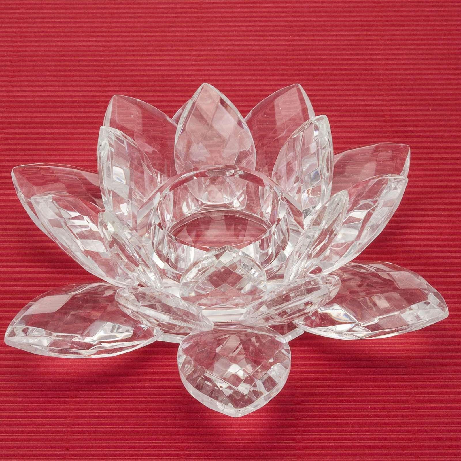 Portacandela fiore in vetro 3