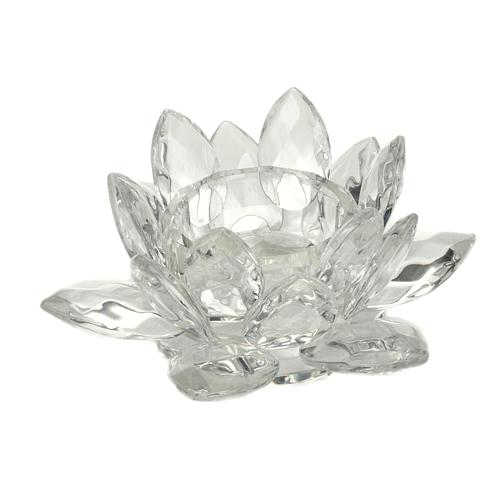 Glass flower candle-holder 1