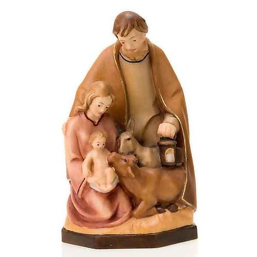Natividad de madera colorada con buey y asno 3