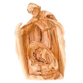 Natività legno olivo Betlemme cm 12,5 s1