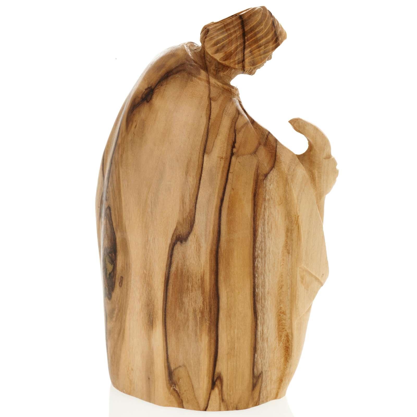 Olive wood nativity of Bethleem, 12.5cm 3