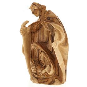 Olive wood nativity of Bethleem, 12.5cm s3