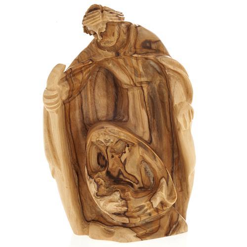 Olive wood nativity of Bethleem, 12.5cm 1
