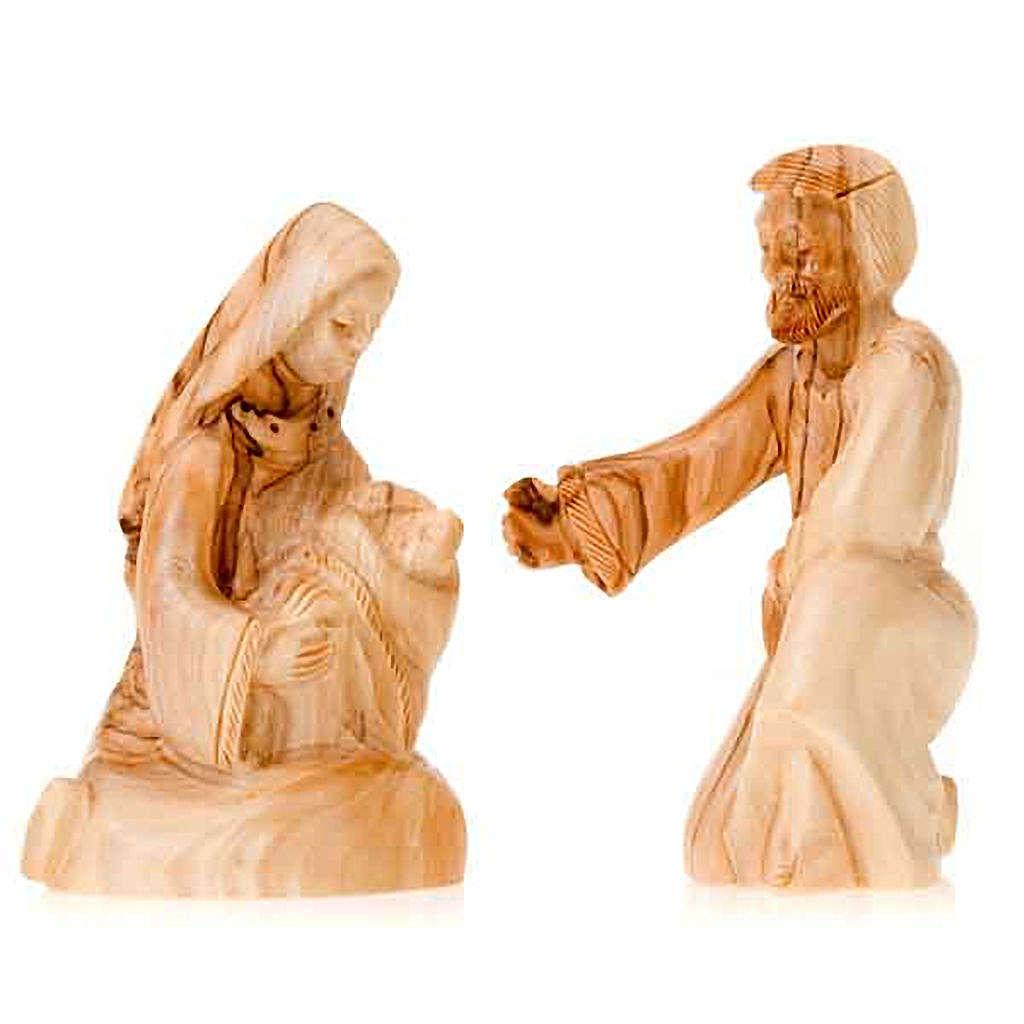 Natività legno Betlemme cm 12 3