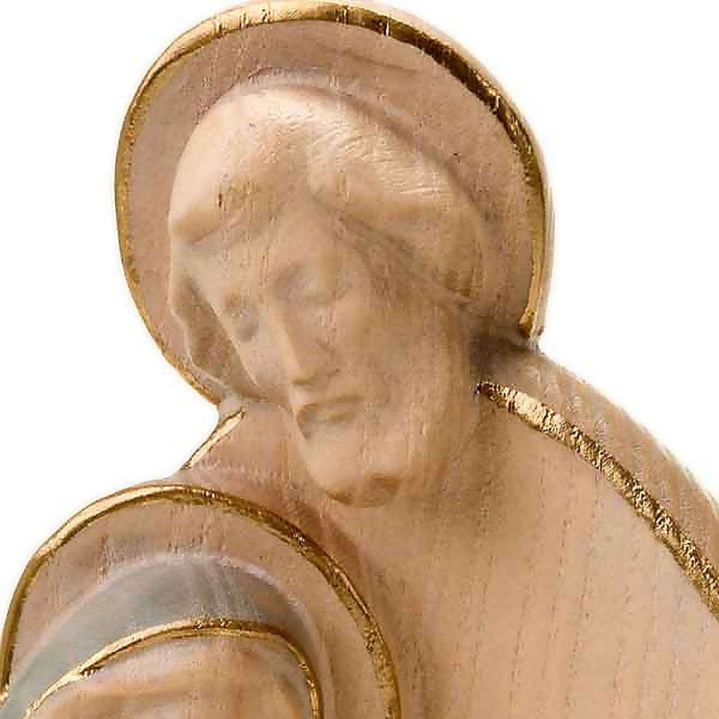 Wooden stylised nativity set, 20cm 4