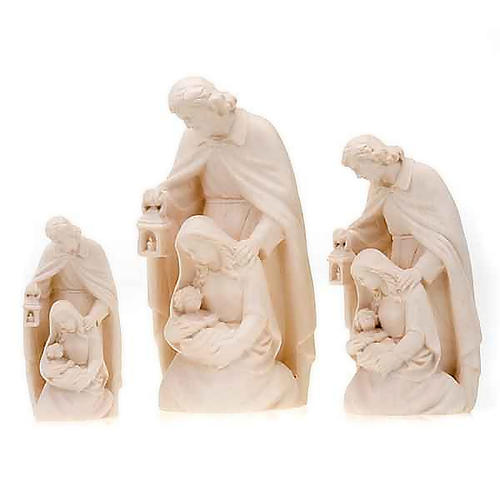 Natural wood nativity 1