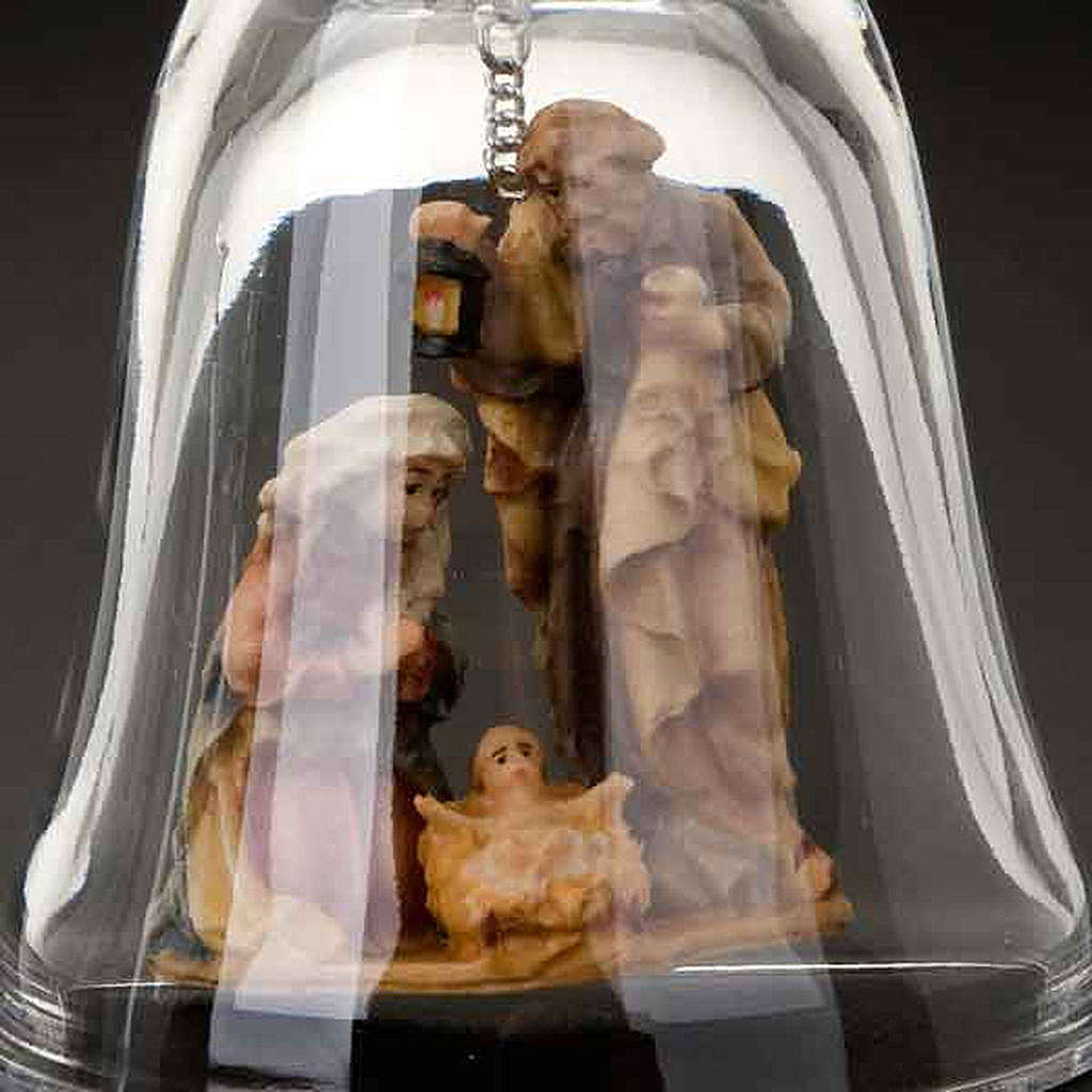 Crystal bell with nativity 4